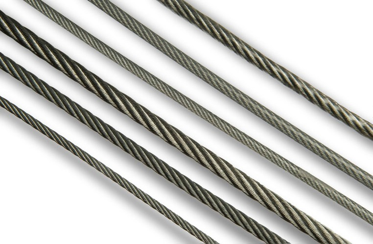 Galvanised steel wire ropes